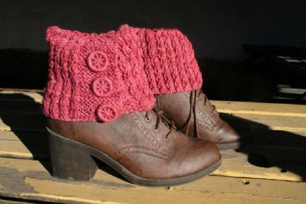 Castlerigg Boot Cuffs, Knitting Pattern
